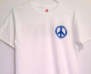 Men`s White T-Shirt Front View